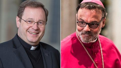 Limburgs Bischof Georg Bätzing und sein Vorgänger Franz-Peter Tebartz-van Elst