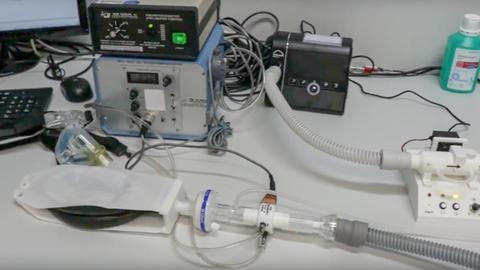 Künstliche Beatmung Marke Selbstbau: Das CDAP-Gerät der Marburger Forscher kann in der Corona-Not viele Leben retten