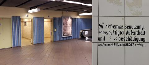 Öffentliche Toilette U-Bahn Frankfurt