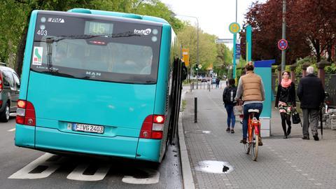 Ein Radweg in Frankfurt