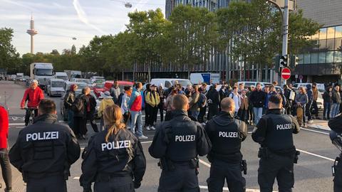 Klimastreik-Demo in Frankfurt-Bockenheim