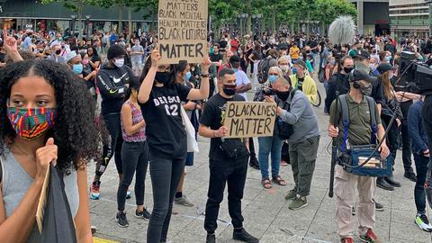 """""""Black lives matter"""": Demo an der Frankfurter Hauptwache"""