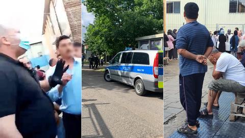 Der Streit um Küchenherde führte zu einem Einsatz der Polizei und eines Sicherheitsdienstes in der Flüchtlingsunterkunft in Frankfurt-Bonames