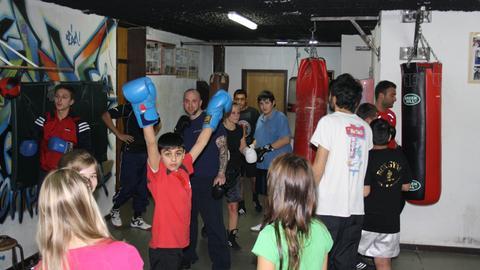 Jugendliche im Box-Gym Hanau