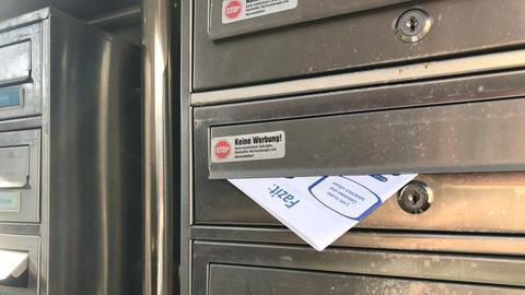 Immer wieder landen unerwünschte Flyer in privaten Briefkästen