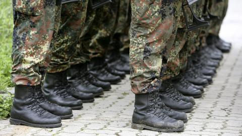 Bundeswehr Soldaten Stiefel