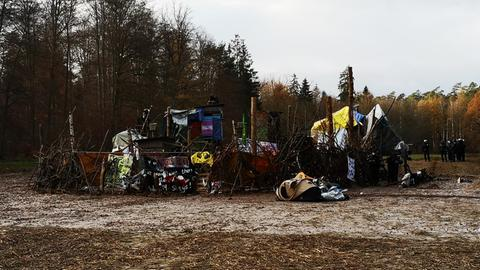 Camp Askaban von Waldbesetzern