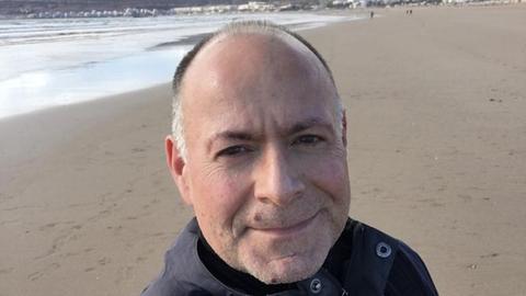 Carsten Majer an der Bucht von Agadir