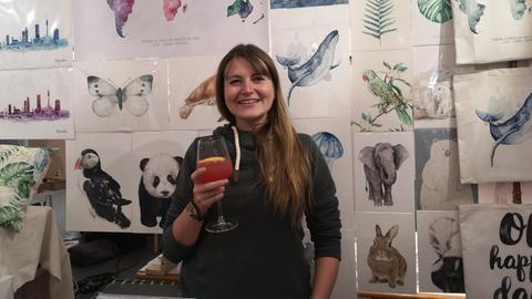 Christine Matthies ist seit 2018 als Grafik-und Textildesignerin selbständig