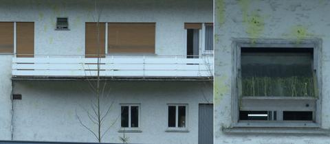 Beschmiertes Flüchtlingsheim in Schotten