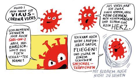 "Auszug aus dem Corona-Comic ""Geheimes Tagebuch eines miesen Virus"""