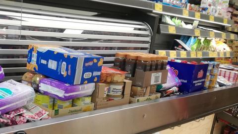 Massenhafte Lebensmittel, die von Eine Sorge Weniger verschickt wurden