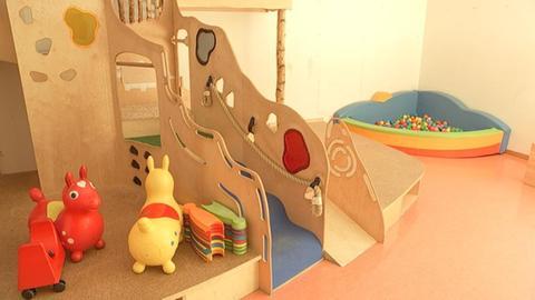 Verwaiste Spielecke in einer Kindertagesstätte