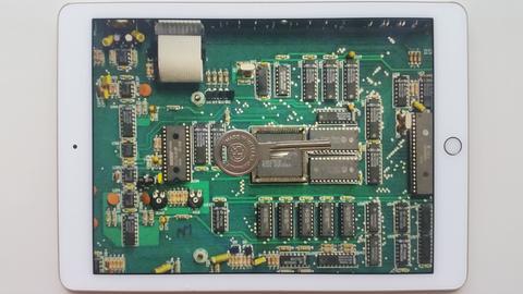 Schlüssel auf einer Computerschaltung