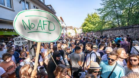Tausende demonstrieren in Darmstadt gegen die AfD