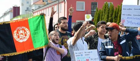 Demonstraion Flüchtlinge