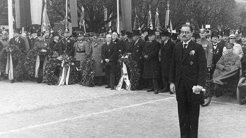 Weihe des Artilleriedenkmals in Wiesbaden am 21. Oktober 1934