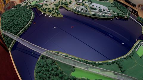 Modell der Diemelsee-Hängebrücke