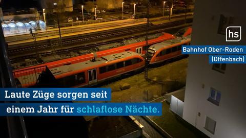 Abgestellte Züge im Bahnhof Ober-Roden
