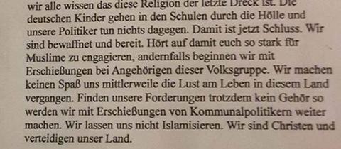 Schreiben Kommunalpolitiker Neu-Isenburg Dreieich Muslime