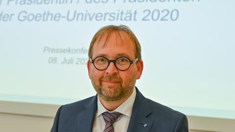 Der neue Präsident der Goethe Universität Frankfurt, Enrico Schleiff