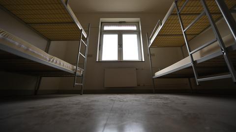 Leeres Zimmer in einer Erstaufnahmeeinrichtung