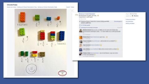 Screenshot der Facebook-Seite der Montessori Schule Wiesbaden