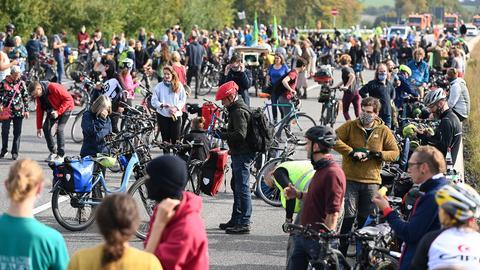 Fahrraddemo Dannenröder Forst
