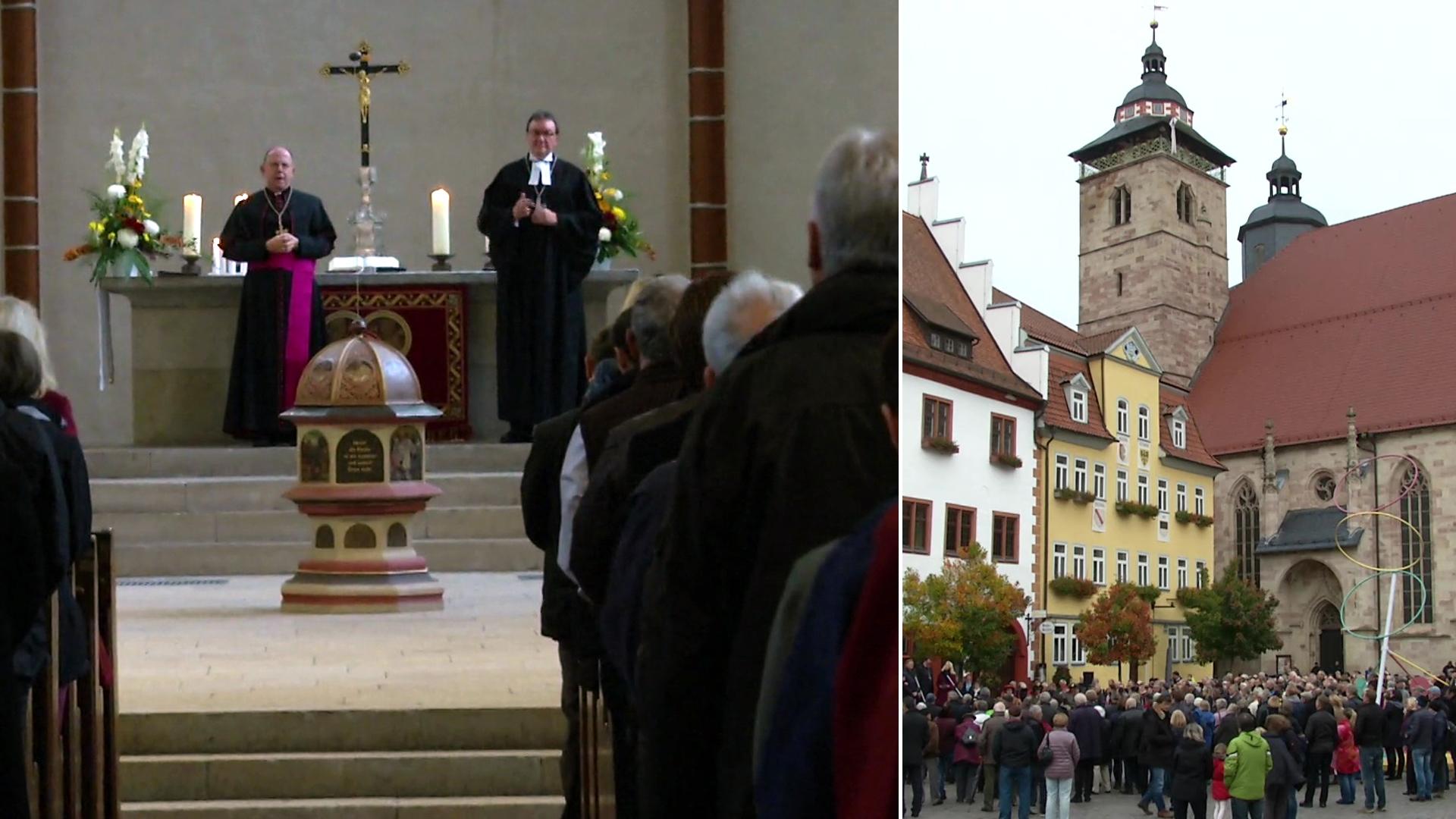 Protestanten und Katholiken haben in Schmalkalden gemeinsam den Reformationstag gefeiert.