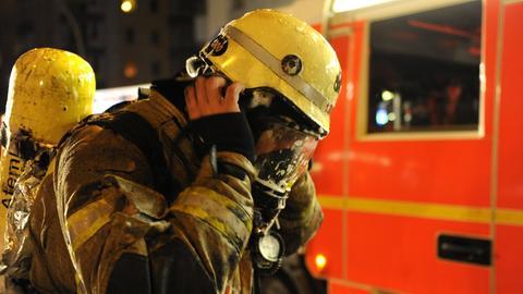 Feuerwehrmann beim Einsatz