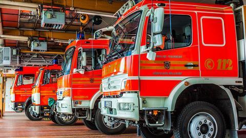 Feuerwehrautos in Walldorf