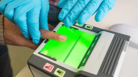Fingerabdruck-Scanner des Bundesamtes für Migration und Flüchtlinge