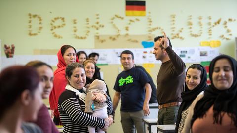 Flüchtlinge Deutschkurs