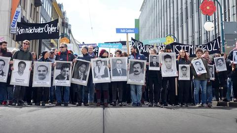 Demo zum Gedenken an NSU-Opfer am Donnerstag in Kassel.