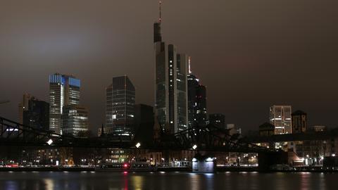 Frankfurt Skyline dunkel Earth Hour