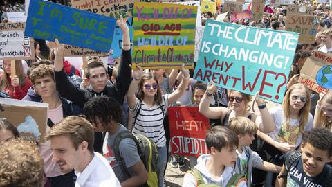 """Fridays for Future""-Demo in Frankfurt"