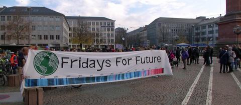 "Demonstranten von ""Scientists for Future"" in Darmstadt"