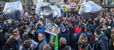 Fridays for Future am 29.11. auf der Frankfurter Zeil