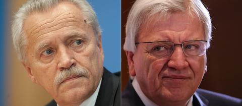 Ex-Verfassungsschutzchef Heinz Fromm (l.) und Ministerpräsident Volker Bouffier (CDU)