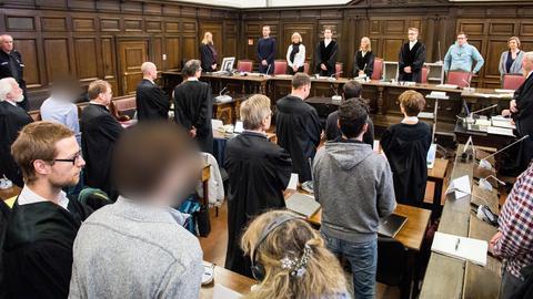 Aufnahme aus dem Gerichtssaal