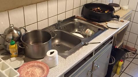 Küche in Café im Wiesbadener Westend