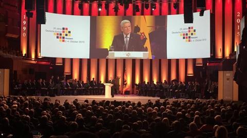 Bundespräsident Joachim Gauck beim Festakt in Frankfurt