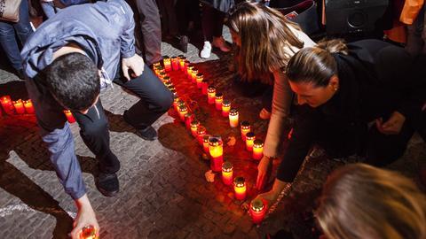 Wie hier bei einer Gedenkveranstaltung in Berlin soll auch in Pohlheim an den Genozid erinnert werden - mit einem Mahnmal.