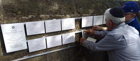 Gedenken an Holocaust-Opfer aus Bad Salzschlirf auf dem jüdischen Friedhof von Fulda