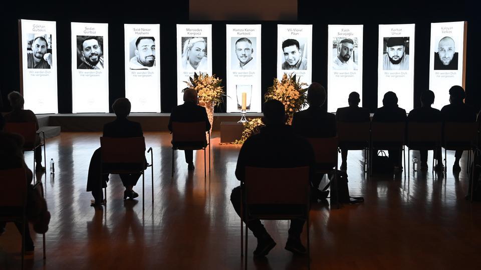 Gedenkfeier für die Opfer von Hanau im Congress-Park