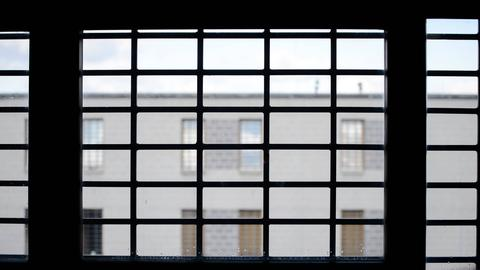Blick aus einer Gefängniszelle