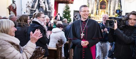 Der neue Bischof Michael Gerber beim Antrittsbesuch im Bistum Fulda