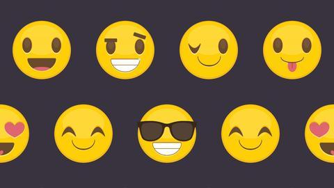 Glückliche Emojis