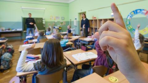Bild aus dem Klassenzimmer einer Grundschule