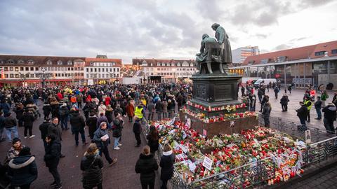 Tausende versammelten sich am Mittwoch in Hanau